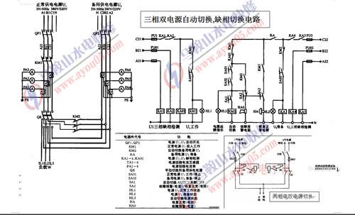 三相双电源自动切换,三相缺相自动切换电路和两相电双